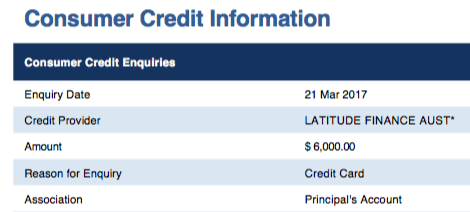 Equifax Data - very basic credit reporting.