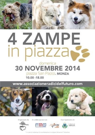 4 zampe in piazza-manifesto