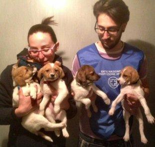 ns-cuccioli con 2 volontari