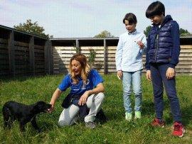 ragazzi con volontaria e cane_4