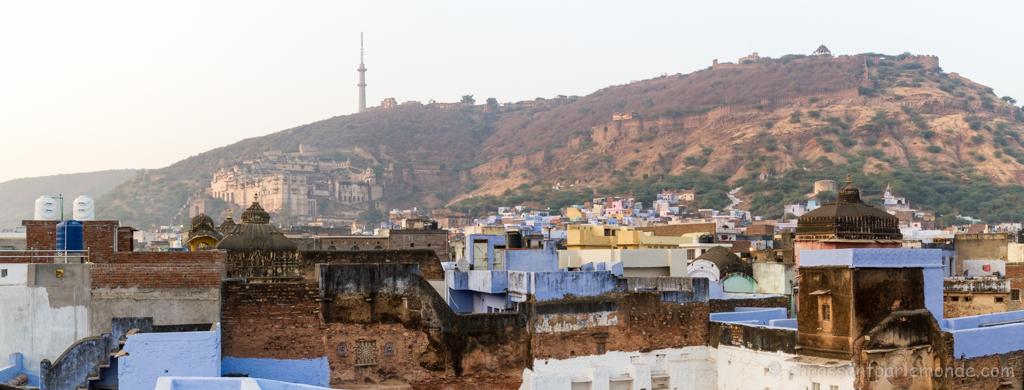 Bundi, vue depuis le toit de notre guesthouse