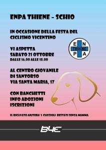 Banchetto ENPA alla festa del ciclismo Vicentino, Santorso, sabato 21 ottobre