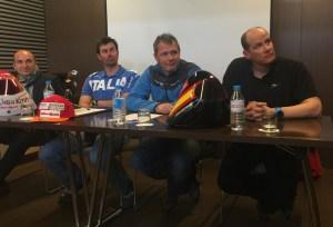 Origone y Adarraga en presentación del mundiall de Andorra 2015 en Barcelona