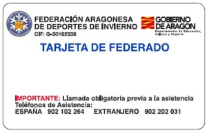 federado, tarjeta, aragonesa, federacion, enpistas.com