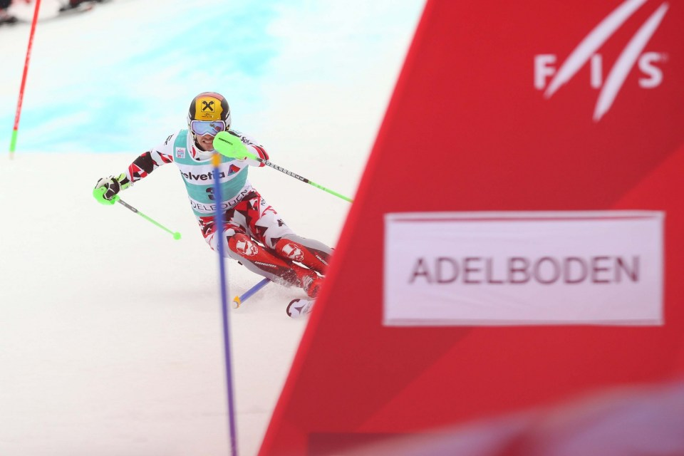 ADELBODEN,SWITZERLAND,10.JAN.16 - ALPINE SKIING - FIS World Cup, slalom, men. Image shows Marcel Hirscher (AUT). Photo: GEPA pictures/ Daniel Goetzhaber