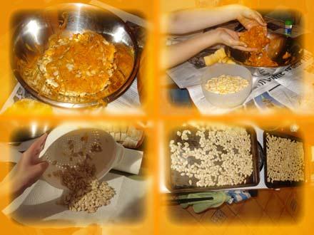 El proceso pipil al completo. Sencillo -salvo por el tema de la porqueria naranja- y sabroso.