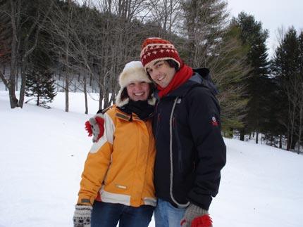Dos buenos abrigos felices en Canadá.