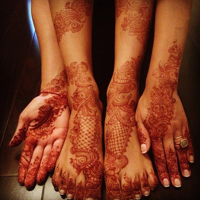 boda india tatuaje henna