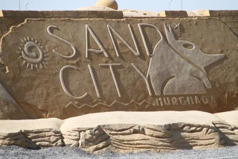 sand city hurghada Egipto foto martínez enredando.info