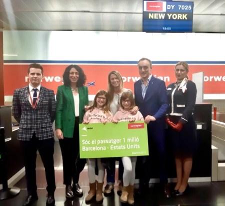 Pasajera 1 millón Barcelona - Nueva York Norwegian