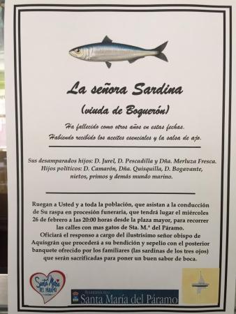 entierro de la sardina santa maría del páramo