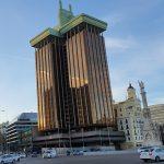 torre de colón o del enchufe verde