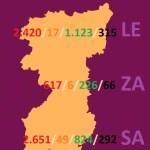 MAPA DATOS REGION LEONESA -LEÓN, ZAMORA Y SALAMANCA- COVID 19 A 21 DE ABRIL DE 2020