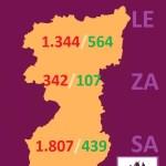 MAPA DATOS REGION LEONESA COVID 19 A 7 DE ABRIL DE 2020