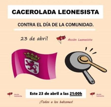 cacerolada leonesista23 abril