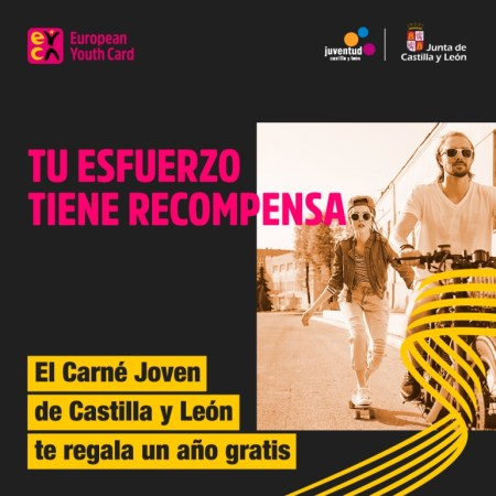 Carné Joven de Castilla y León regala un año gratis a sus usuarios