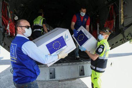 material y mascarillas UE