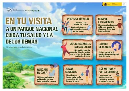 guía de medidas y recomendaciones para la visita a los parques nacionales durante la desescalada