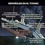 españoles en el titanic