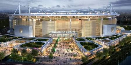 nuevo estadio leon gto fachada