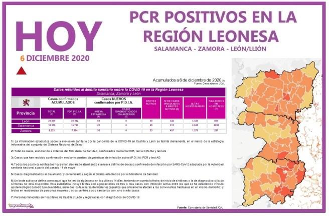 PCR COVID19 A 7 DE DICIEMBRE 2020 REGIÓN LEONESA SALAMANCA, ZAMORA Y LEÓN