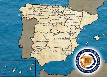 Mapa fiestas y recreaciones históricas