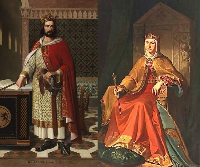 Sancha I de León y su esposo Fernando I