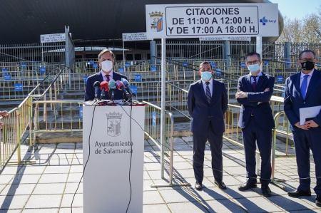La vacunación masiva en Salamanca arranca mañana en el 'Sánchez Paraíso'