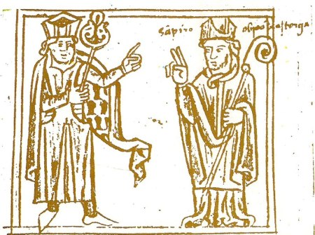 lustración de Sampiro como Obispo de Astorga en el códice de Batres