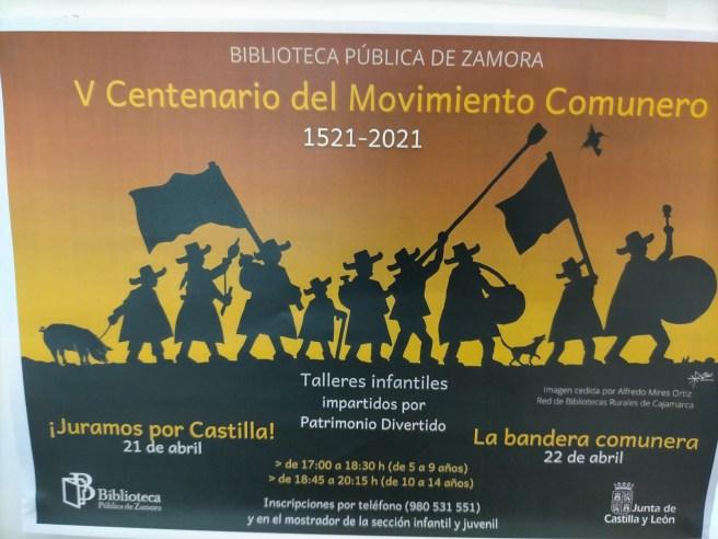 cartel actos biblioteca zamora comuneros