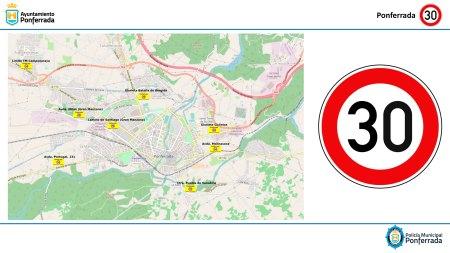 Entrada en vigor en Ponferrada de las nuevas velocidades en vías urbanas
