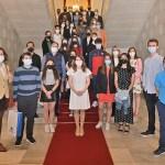 El Ayuntamiento de Salamanca recibe a los participantes en el concurso Aula de Patrimonio