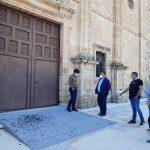 restauración del atrio de la iglesia de San Nicolás en Villafranca.