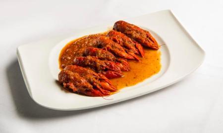 Cangrejos de río en salsa de tomate ok - La Cocina de María Luisa (Copy)