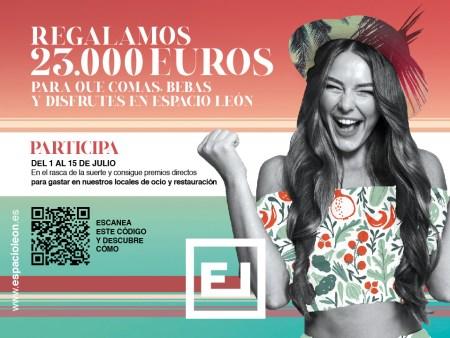 Espacio León regala 23.000 € a sus clientes para que coman, beban y disfruten en el Centro Comercial