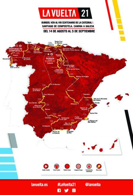 La Vuelta 2021 Mapa