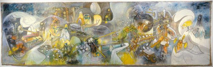 Les Puissances du désordre , 1964-1965. Huile sur toile, 298 x 993 cm,  Musée national d'art moderne Centre Georges Pompidou, Paris,   © Centre Pompidou-MNAM-CCI/DIST.RMN-Grand Palais / AGADP, Paris 2013