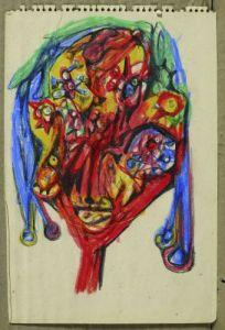 Le Poëte,1945, Huile sur toile, 95 x 77 cm,  Collection Ramuntcho Matta ¢Ramuntcho Matta-ADAGP Paris 2013