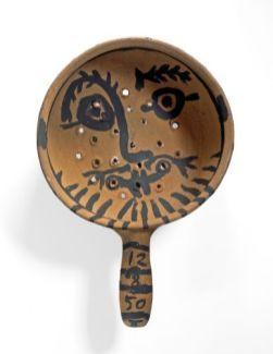 Picasso visage homme visage femme recto 1950