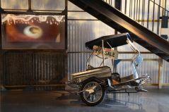 "taxis"", tricycles et sidecars bâchés handmade"