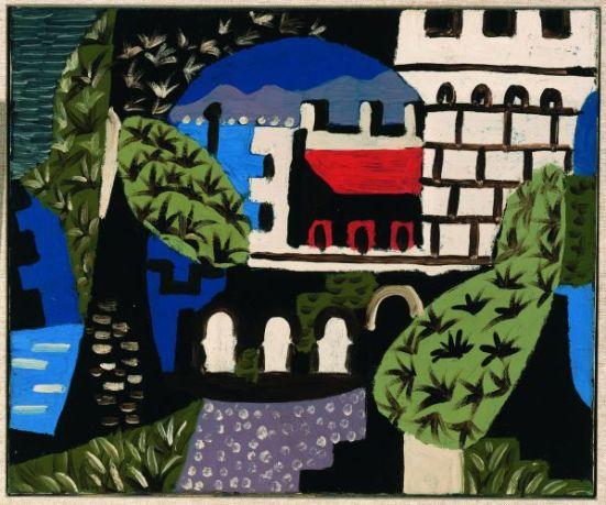 ablo Picasso, Paysage, Juan-les-Pin, 1924. Huile sur toile, 38 x 46 cm Collection particulière © Succession Picasso 2013