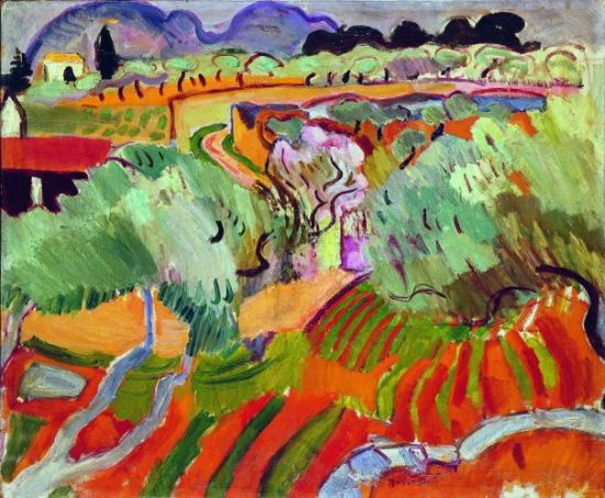 Raoul Dufy,  Paysage de Provence, 1905. Huile sur toile, 65 x 81 cm Paris, musée d'art moderne de la Ville de Paris © RMN-Grand Palais / Agence Bulloz © Adagp, Paris 2013
