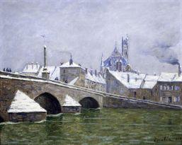 Picabia, Le Pont de Villeneuve-sur-Yonne, 1906