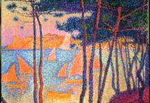 Paul Signac, Voiles et pins, 1896