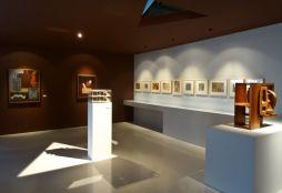 Vue de l'exposition Le Corbusier et la question du brutalisme - Idéalisme et Rationalisme