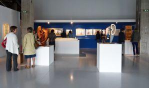 Vue de l'exposition Le Corbusier et la question du brutalisme - La Méditerranée et Marseille
