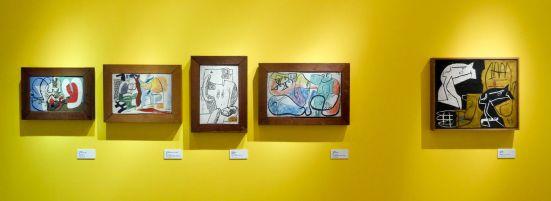 Le Corbusier, Deux femmes au repos, 1939, Trois figures Bado,1943, Deux femmes debout au tronc d'arbre, 1947, Divinité baroque, 1943, Tête et mains, 1955
