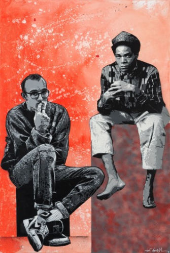 Jef Aerosol, Jean Michel Basquiat et Keith Haring, 195 x 130 cm