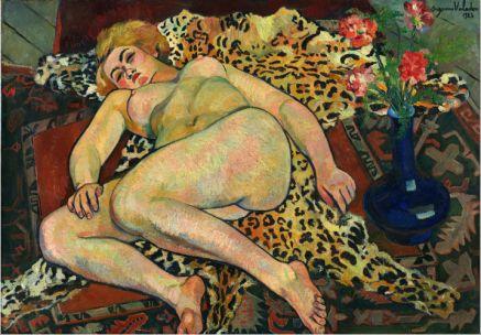 Suzanne Valadon, Catherine nue, allongée sur une peau de panthère, 1923