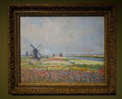 Claude Monet, Champs de tulipes et moulins près de Rijnsburg, 1886